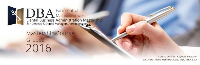 DBA Dental Business Administration Mastership Course