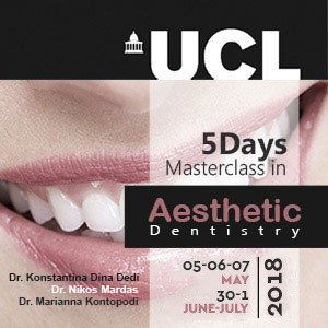 UCL 5 Days Masterclass in Aesthetic Dentistry 2018