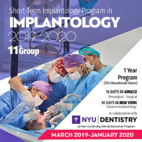 Short-Term Program in Implantology  2019-2020 Greece-New York