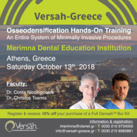 Osseodensification One Day Hands-On Training