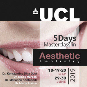 UCL 5 Days Masterclass in Aesthetic Dentistry 2019