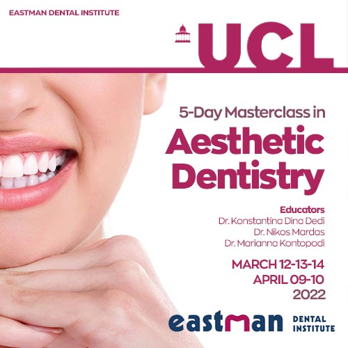 UCL 5 Days Masterclass in Aesthetic Dentistry 2022